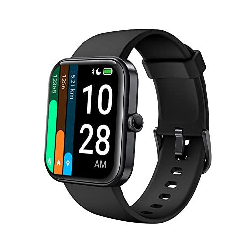AKWLOVY Smartwatch, Orologio Fitness Tracker 1,69   Full Touch Schermo Alexa Integrato Cardiofrequenzimetro per Donna Uomo Activity Tracker 5ATM Sportivo Calorie Bluetooth per Android iOS (black)