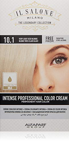 Il Salone Milano Permanent Hair Color Cream - 10.1 Very Light Iced Blonde Hair Dye - Professional Salon - Premium Quality - 100% Gray Coverage - Paraben Free - Ethyl Alcohol Free - Moisturizing Oils
