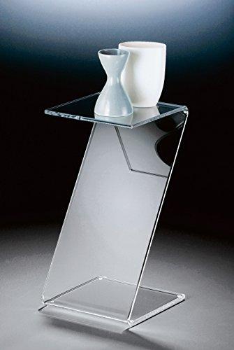 HOWE-Deko Table majordome en Acrylique Haute qualité, Transparent, 33 x 33 cm, H 60 cm, l'épaisseur de l'acrylique 12 mm