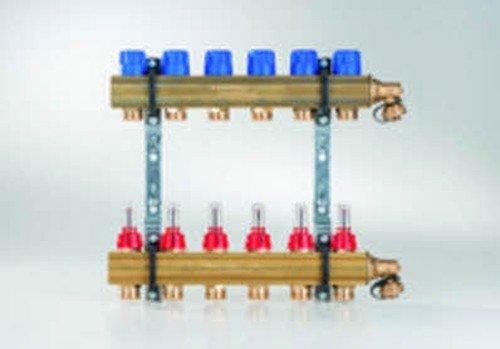 Buderus Empur Messing Heizkreisverteiler Systemverteiler HKV-D Durchflussmengenmesser, Heizkreise/Baulänge:2 HK / 150 mm