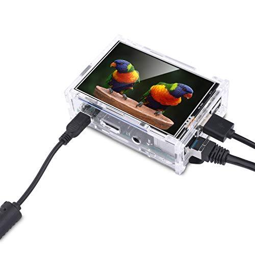 『Kuman Raspberry Pi ディスプレイ タッチスクリーン 3.5インチ ケース ヒートシンク Pi 3B 2B B A A B 用 SC11-JP』の5枚目の画像