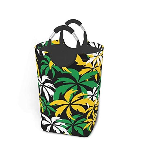 Cesto de lavandería Jamaica Palm Trees Cesto de lavandería Plegable Contenedor Grande Bolsa de Ropa Duradera con Asas 50 L