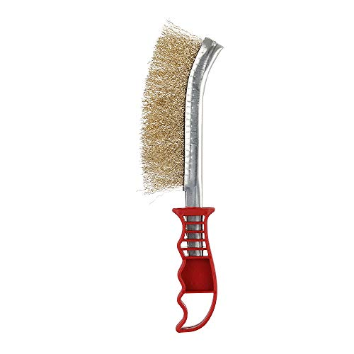 Find Discount BBQ Grill Cleaning Brush Steel Wire Brush Copper Plating Derusting Brush Barbecue Clea...