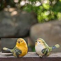 ガーデンオーナメント 小鳥 置物 ガーデニング ガーデン 庭 鳥 オブジェ 屋外 玄関 出窓 階段 プレゼント 2個 タイプ2