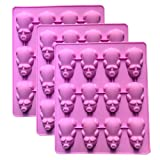 3 Pack 12 Little Pigs in a Blanket Silicone Baking Pan, Piggy Pops Muffin Tins Pancake Cake Silicone Mold Cupcake Baking Cups, Chocolate Fondant Jello Soap Mould Ice Cube Trays