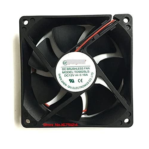 2 unids/Set td9025ls 12v 0.16a 90mm * 90mm * 25 mm Rodamiento hidráulico de cofrío silencioso refrigerador de refrigeración