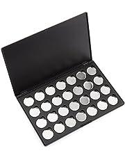 Allwon leeg magnetisch oogschaduw make-up palet met 28 stuks 26 mm ronde metalen pannen
