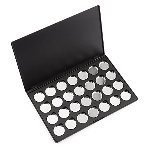Allwon Empty Magnetic Eyeshadow Makeup Palette with 28Pcs 26mm Round Metal Pans