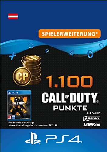 1.100 Call of Duty : Black Ops 4-Punkte - 1100 Points DLC | PS4/PS3 Download Code - österreichisches Konto