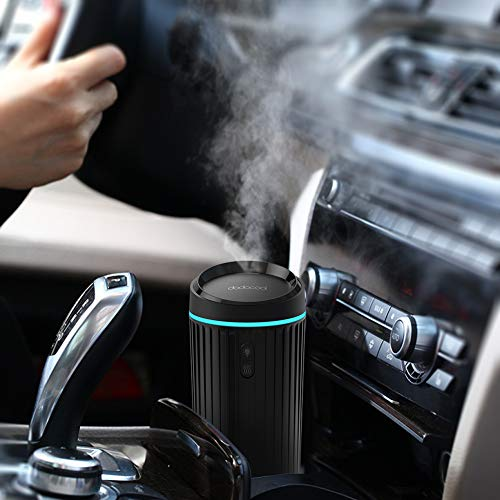 dodocool Car Diffusers Essential Oil, Air Refresher Ultrasonic Aromatherapy Diffuser for Essential Oils Portable Car Diffuser Two Mode Mist Cool Humidifier with 7 Color LED Lights, Waterless Auto Shut