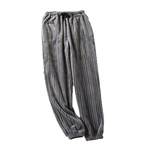 Franela Pareja Primavera Y OtoO Pantalones De Pijama Pantalones De Casa OtoO E Invierno Coral Fleece Hombres Y Mujeres Engrosamiento Calidez Y Cierre