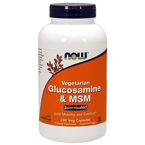 NOW Supplements, Glucosamine & MSM (GreenGrown Glucosamine), Vegetarian, 240 Veg Capsules