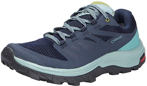 Salomon Women's OUTline GTX W Hiking Shoes, Trellis/Navy Blazer/Guacamole, 7