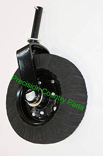 "15"" Laminated Tail Wheel Assembly with Heavy Duty HUB, Bushings, Bearings, Races - 1-1/4"" Yoke Shaft Diameter"