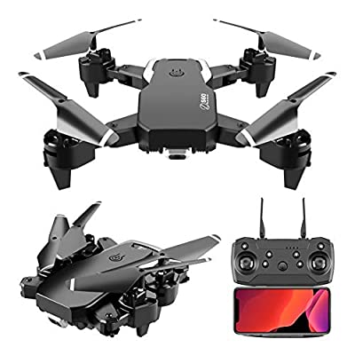 Drone 4K Quadcopter UHD Live Video GPS Drones, FPV Drone with Camera for Adults Beginner 20 Mins Flight Time Long 2000Mah Battery Brushless Motor-Black
