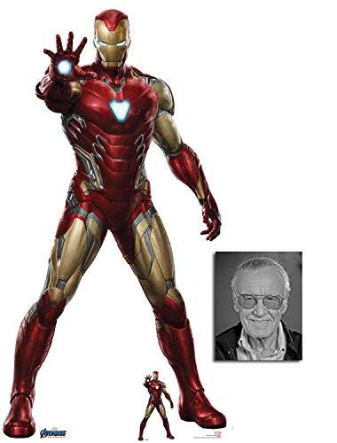 BundleZ-4-FanZ Iron Man von Marvel Avengers: Endgame Offiziell Lebensgrosse und klein Pappfiguren/Stehplatzinhaber/Aufsteller Fan Pack, 185cm x 96cm Enthält 8X10 (25X20Cm) starfoto