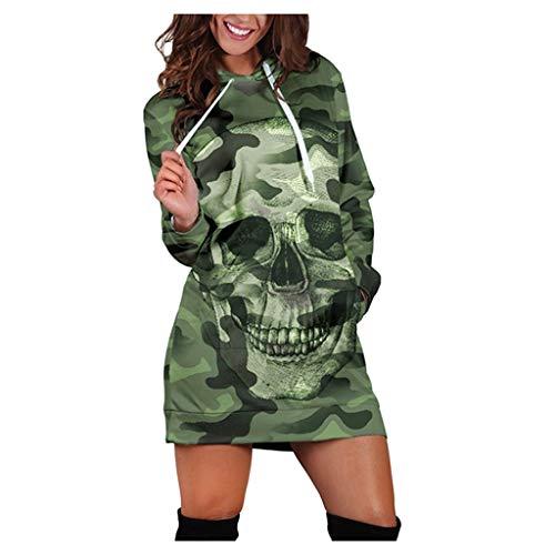 HJFR 2021 Nouveau Mode Jupe Pull à Capuche Femme Mini Robe Automne Hiver Sweat Pull Femme Mesdames Manches Longue Pullover T-Shirt Sweat Shirt Chemisier Manteau Femme Haut Chemisier décontracté Veste