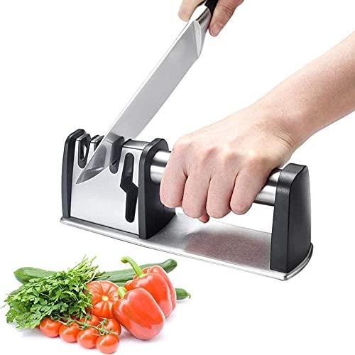 Affilacoltelli Professionale 4 in 1, Affilacoltelli Professionale, Affila Coltelli da Cucina con...