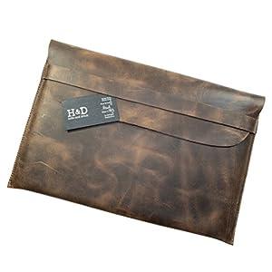 """Rustic Leather Macbook Case (15"""" Display) Handmade by Hide & Drink :: Bourbon Brown"""