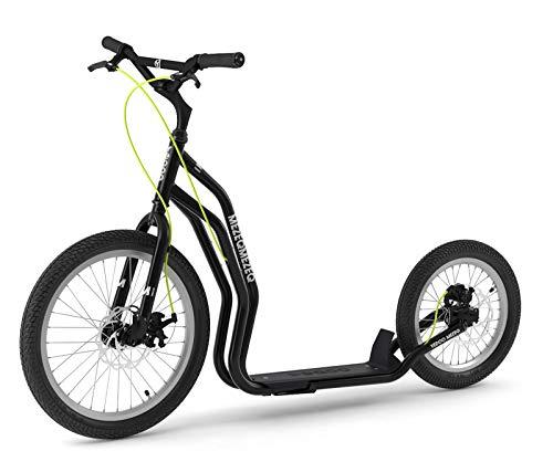 Mezeq RunRun Yedoo Scooter Tretroller 20/16 Zoll schwarz Disc-Brake Offroad-Reifen | Cityroller für Erwachsene und Jugendliche