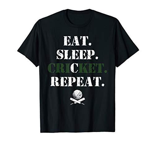 Eat Sleep Cricket Repeat Pakistan Cricket Fan Gift T-shirt