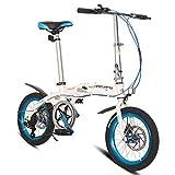 RPOLY Plegable de la Ciudad para Bicicleta, 6 velocidades Bici Plegable Unisex Bicicleta Plegable con el Marco Plegable de Aluminio,