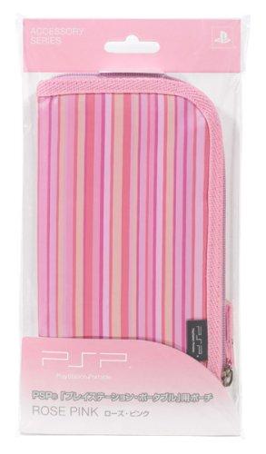 Sony PSP Portable Soft Zipper Pouch Bag - Rose Pink - Sony PSP;