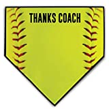 ChalkTalkSPORTS Softball Stiches Home Plate Plaque | Thanks Coach | Ready to Autograph