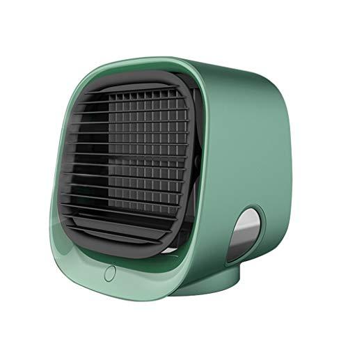 Diaod El Aire frío del Ventilador Mini acondicionador de Aire de Escritorio con luz de Noche Mini USB Ventilador de refrigeración del Agua del purificador del humectador multifunción Verano