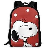 Mei-shop Mochila Informal Mochila Escolar con Cremallera y Estampado de Sn-oopy Rojo Mochila de Viaje Mochila-48