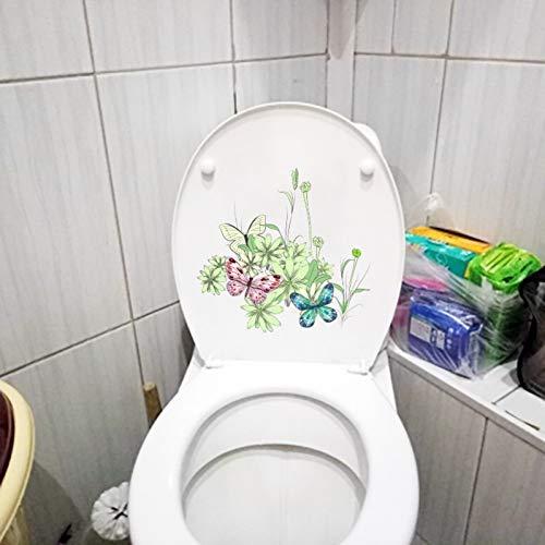 ZPZZPY Muursticker 23.3X22.2Cm Mooie Cartoon Vlinder Worm Slaapkamer Muurstickers Fotobehang Creatief Toilet Wc Decor