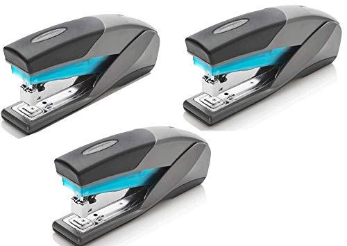 Swingline Stapler, Optima 25, Full Size Desktop Stapler, 25 Sheet Capacity, Reduced Effort, Blue/Gray (66404) - SWI66404 (3-Pack)