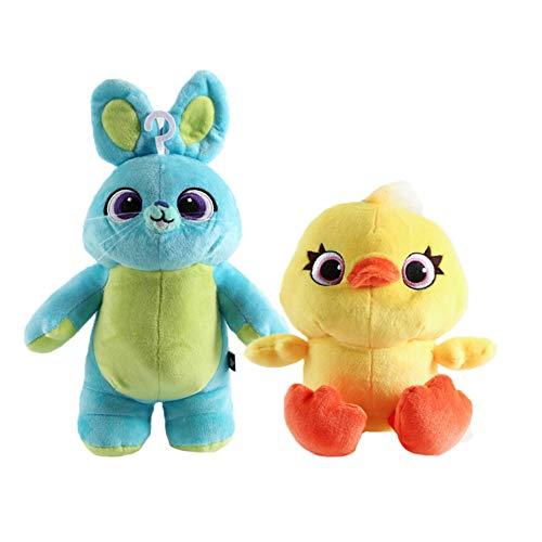 XIAOMOLAO 2 Piezas Toy Story 4 Peluches 20/31 Cm, Conejito Y Ducky Woody Y Buzz Lightyear Doll, Peluche De Peluche Suave para Niños Cumpleaños