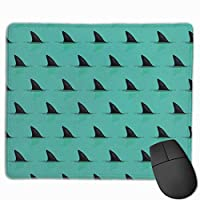 Hark Fins in the Sea Dangerマウスパッド滑り止めラバーゲーミングマウスパッドコンピューター用ラップトップ30x25 cm