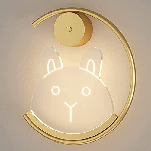 Lámpara De Pared De Acrílico De Dibujos Animados LED De 6 W, Aplique De Pared De Noche Para Dormitorio, Lámpara De Pared De Aluminio Dorado Para Sala De Estar, Decoración De Iluminación De Pasillo
