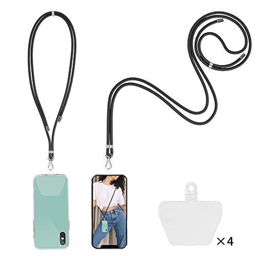 takyu Phone Lanyard, Universal Cell Phone Lanyard with Adjustable Nylon Neck strap, Phone Tether Safety Strap Compatible with Most Smartphones with Full Coverage Case (2 Pack)