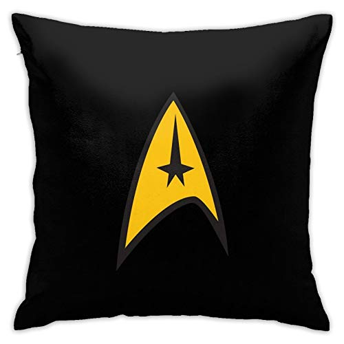 GENZHESI Star Trek Square Throw Pillow,Covers Set Cushion Case Custom Pillowcase,Decorative Pillow Covers for Sofa,Bedroom,Car,18x18 Inch