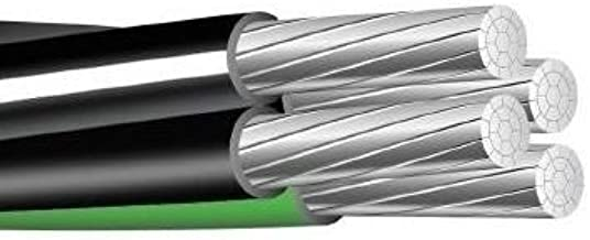 100' 2-2-2-4 Aluminum Mobile Home Feeder Cable 600V