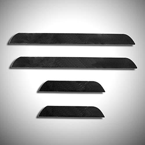 Fibra di Carbonio 4D Battitacco Auto Esterno Batticalcagno per 116i 118d 118i 120d 120i 130i E81 E82 E87 E88 Adesivi delle Soglie delle Porte in Fibra di Carbonio 4 Pezzi