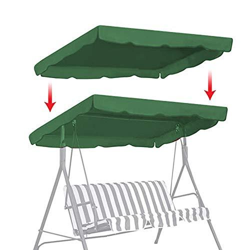 Rain City Chaise Hanging Auvent, Jardin Balancez Couverture Gazebo, hamac Anti-UV Coupe-Vent imperméable Garden Cover, Heavy Duty Grande Balancelle Couverture,Vert,195 x 125cm