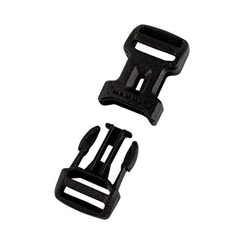 Mammut Dual Adjust Side Squeeze Buckle Ersatz-steckschnalle, Black, 20 mm