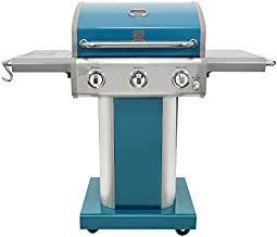 Kenmore PG-A4030400LD-TL 3 Burner Outdoor Patio Gas BBQ Propane Grill, Teal
