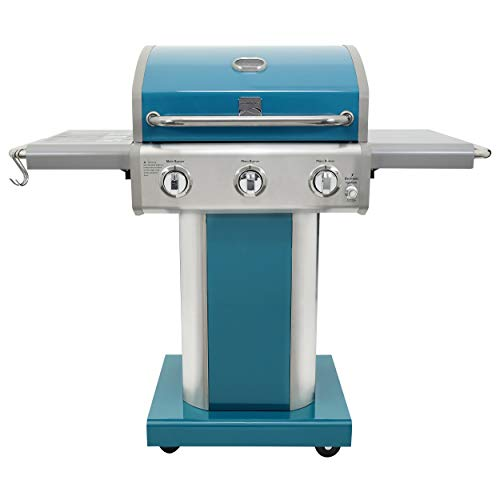 Kenmore PG-A4030400LD-TL 3 Burner Outdoor Patio Gas BBQ Propane Grill, Teal Grills Propane