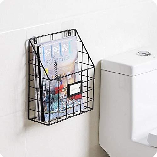 Dyna-Living Porte-revues Mural, Porte-Magazines Support de Rangement, Porte-journaux,Murale en Métal pour Salon Salle de Bain ou Chambre Noir