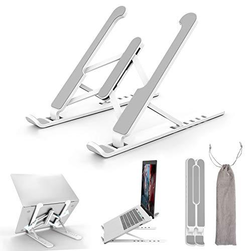 KABB Soporte para ordenador portátil, 6 alturas ajustables, portátil, plegable, ventilado, compatible con todos los ordenadores portátiles (menos de 17 pulgadas), teléfonos, tabletas