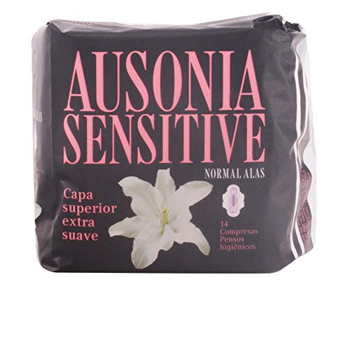 Ausonia - Compresa Normal con Alas Sensitive Ausonia 14 uds