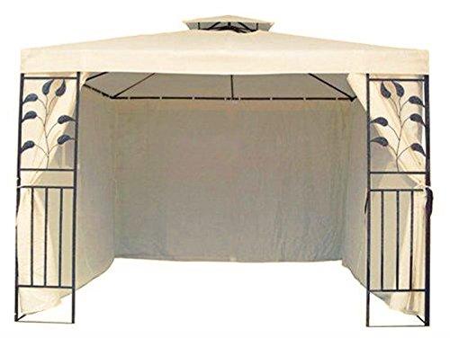 Trendkontor 4 Seitenteile Seitenwände für 3x3 m Metall Pavillon Beige
