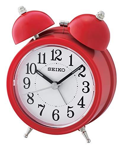 Seiko QHK035R, Sveglia analogica in plastica rossa, unisex