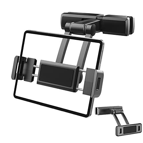 Soporte Tablet Coche, Soporte Coche Reposacabezas Soporte Extensible para Tablet Móvil iPad/Samsung Galaxy Tabs/Amazon Kindle Fire HD/Nintendo Switch/Otros Dispositivos de 4,7-12,3 pulgadas