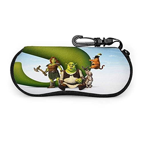 Fundas de Gafas Shrek Forever After - Funda para gafas de sol, portátil, con cremallera de viaje, para gafas de sol